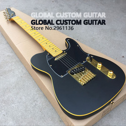 High quality electric guitar,TL style,Basswood body with Maple neck,Black matte paint,Custom electric guitar,free shipping