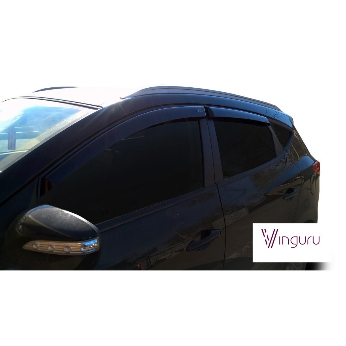 Window Deflectors Vinguru Hyundai Ix35 2010-overhead Scotch-T 4 PCs