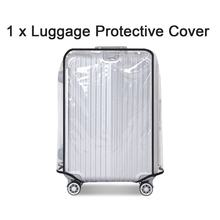 Waterproof Dustproof Luggage Protective Cover Transparent Design PVC Travel Luggage Cover(China)