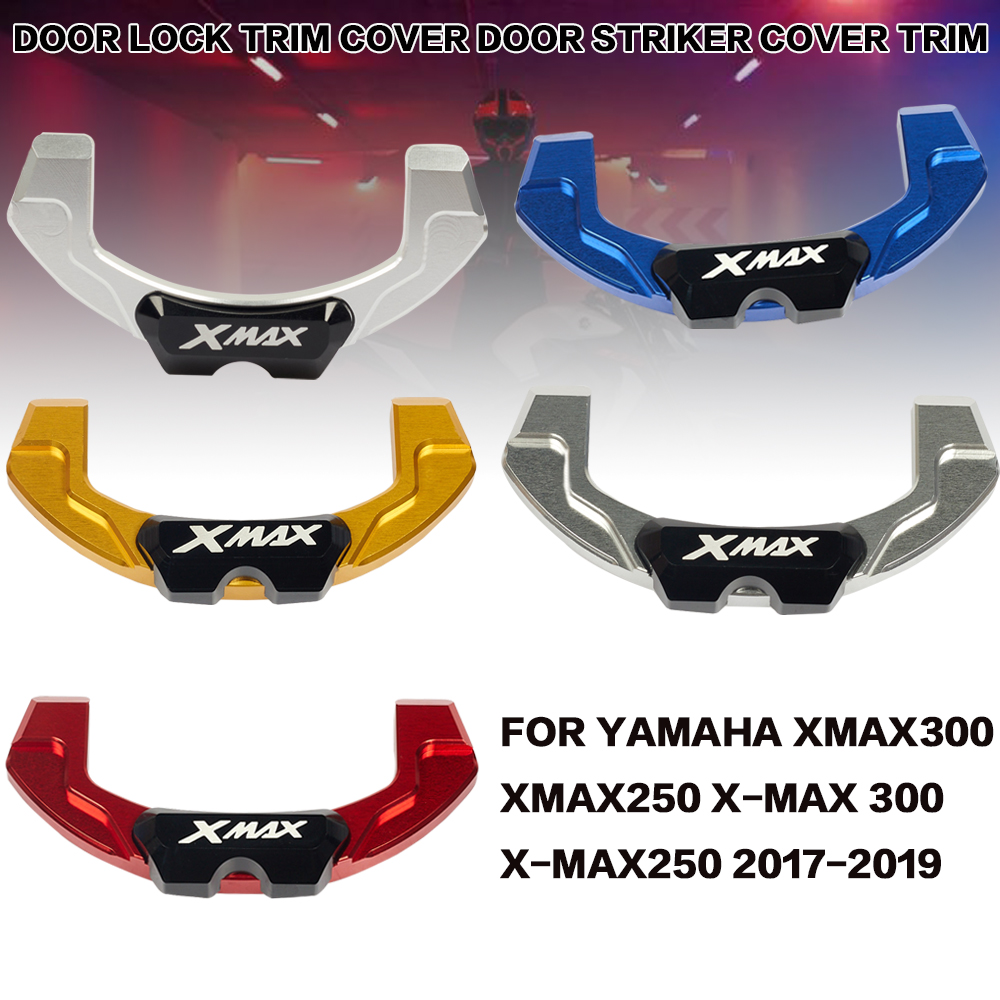 For Yamaha XMAX300 X-MAX 300 XMAX 300 250 2017 2018 2019 Motorcycle Electric Door Lock Decorative Cover Motorcycle Modification