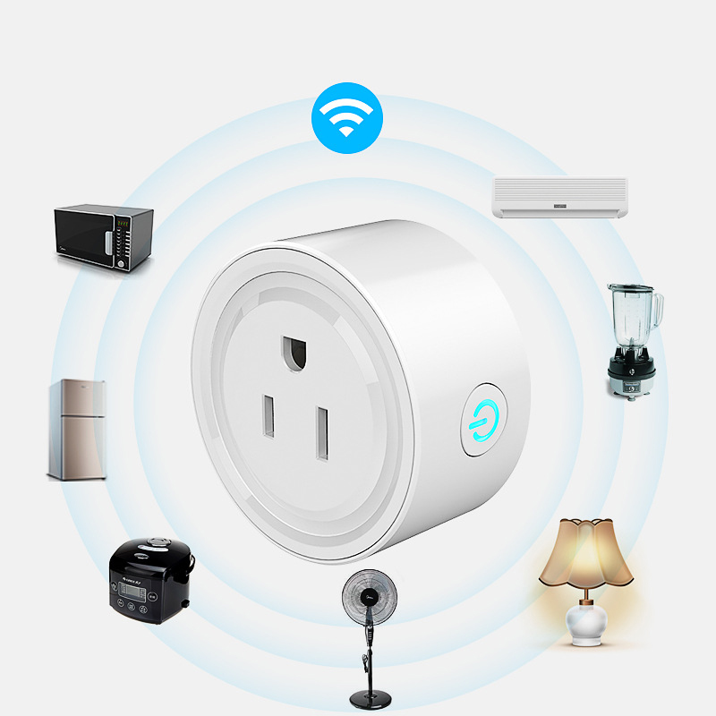 US Plug  10A Wifi Remote Control Switch Socket Timing Switch Voice Control Fit  Google Home For Smart Life