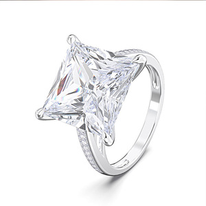Image 3 - Rainmamabom Anillo de Plata de Ley 925 con diamantes Moissanite, anillo de compromiso con piedras preciosas, para boda, pareja de anillos bisutería, venta al por mayor