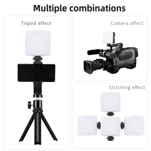 Image 4 - 6W Mini RGB LED Video işığı Tripod ile 2700K 6500K kamera dolgu işığı fotoğrafçılığı aydınlatma için Tiktok Vlog işık lambası