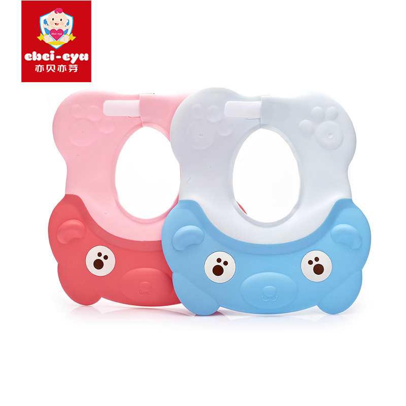 Mom And Baby CHILDREN'S Toiletries Adjustable Babe Baby Bear Silica Gel Shower Cap CHILDREN'S Bathing Shower Cap