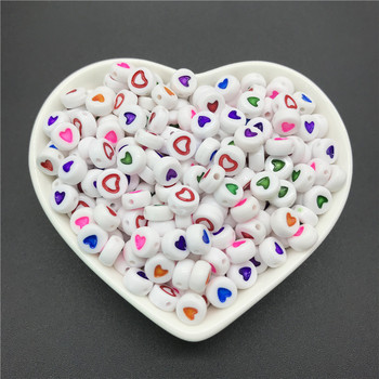 100pcs/lot 4x7mm Acrylic Spacer Beads Letter Beads Oval Alphabet Beads For Jewelry Making DIY Handmade Accessories 4