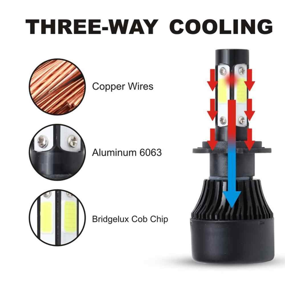 2 PCS 6000K 8000K H7 LED רכב פנס H4 הנורה H1 H11 H3 H8 H9 9005 HB3 9006 HB4 80W 12000LM טורבו אוטומטי מנורות ערפל אורות