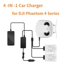 P4 Car Charger for DJI Phantom 4 Pro Advanced + Drone Battery Remote Control Charger Portable Fast Outdoor Travel Charging Hub