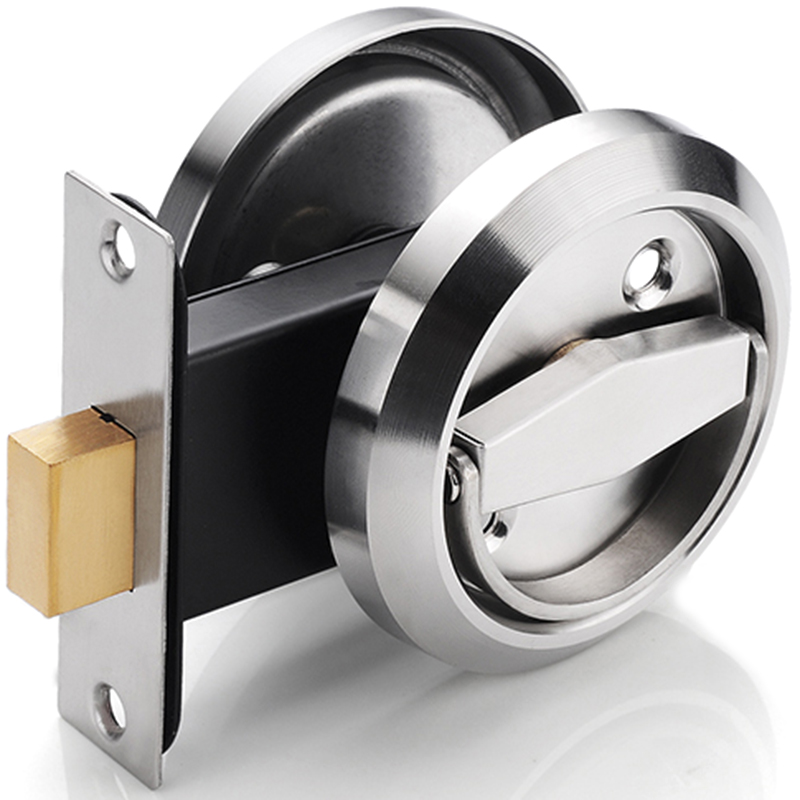 Concealed Door Lock Stainless Steel Handle Embedded Cabinet Invisible Pull Type Mechanical Outdoor Lock For Fireproof Hardware