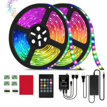 32.8ft RGB Music Sync Color Changing LED Strip Lights Remote Control Receiver For Home Decoration Adapter User Manual Home Decor(China)