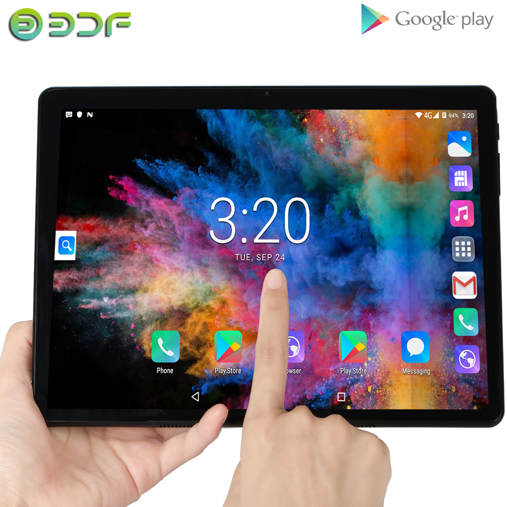 10.1 Inch Tablet 2.5D Steel Screen Android 7.0 Quad Core 1GB RAM 32GB ROM IPS WiFi Bluetooth GPS Tablet PC Mobile Phone SIM Card