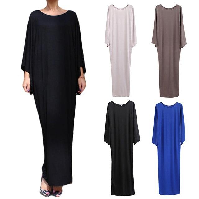 Plus Size muslim clothes Super elastic middle East religion apparel Summer Floor Length long dress Loose Muslim dress  women 1