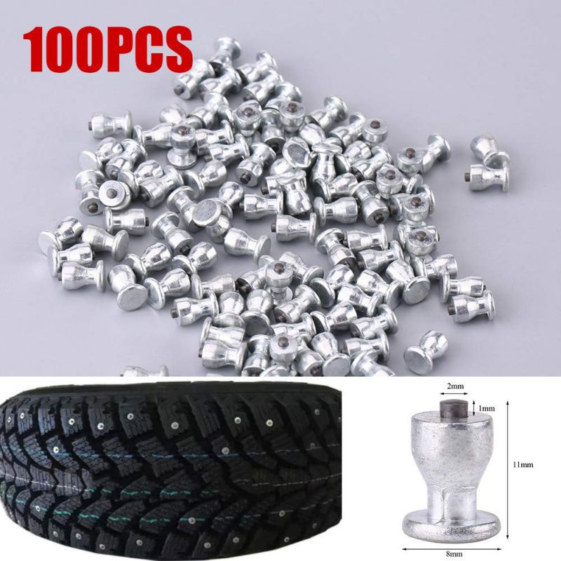 8x11mm 100Pcs Winter Wheel Lugs Car Tires Studs Screw Snow Spikes Wheel Tyre Snow Chains Studs For  Car Motorcycle Tire