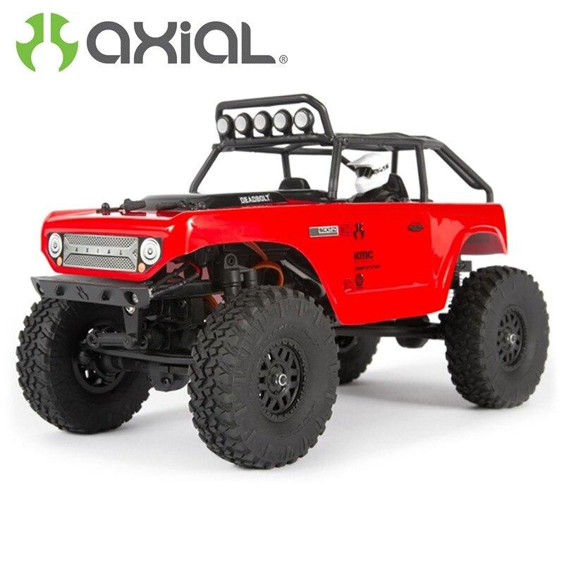 AXIAL SCX24 pêne dormant roche chenille 1/24 4WD RTR rouge