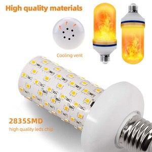 Image 3 - LED E27 Flame Bulb 3W 5W 7W 9W Corn Bulb Creative Flickering LED Light Dynamic Flame Effect 110V 220v E14 Lighting Lamp for Home