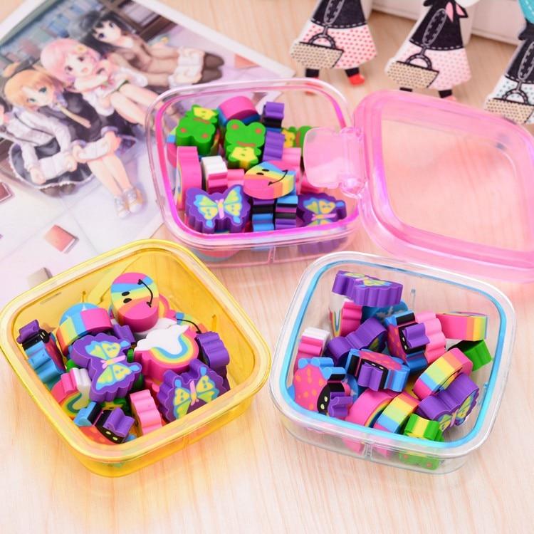 Kawaii Cartoon Cute Mini Rubber Eraser Kid Gift School Supply Stationery Borracha Material Escolar Escolares Papelaria