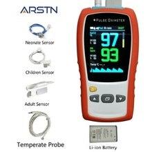 "2.8 ""Tft Handpulsoximeter Pasgeborene Kind Volwassen Medische Hartslagmeter Compatibel Nellcor DS100A Sensor SPO2 Pr Pi"