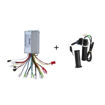 Аксессуары для электровелосипеда, бесщеточный контроллер и поворотный захват дросселя 36 В/48 350 Вт для электрического скутера, велосипеда