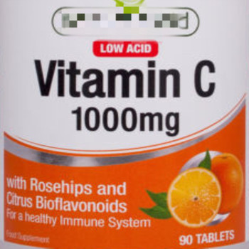 Vitamin C 1000mg (Low Acid) with Rosehips & Citrus Bioflavonoids 90 Vegan tabs.