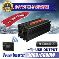 Renoster 3000/6000w wireless power inverter 12V 220V modified sine wave inverter Camping Boat with remote controller invertor