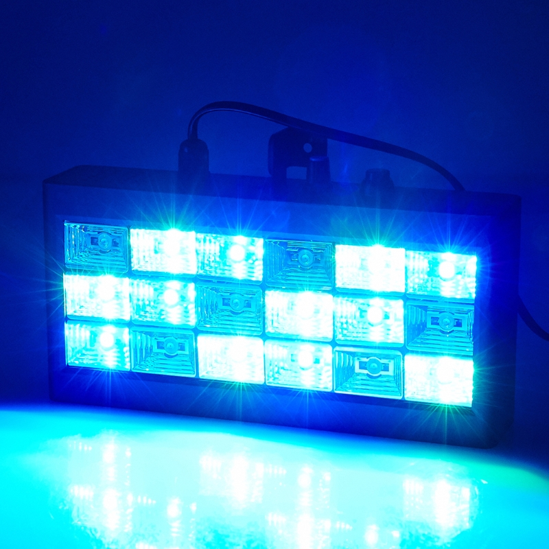Sound Music Control 18W RGB Led Stage Effect Lighting DJ Party Show Strobe Disco Light AC 90-240V Laser Projector Club Bar