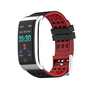 E08 سوار ذكي ECG  PPG ECG معدل ضربات القلب ضغط الدم الرياضة خطوات مقاوم للماء IP67 سوار ذكي للياقة ل IOS أندرويد