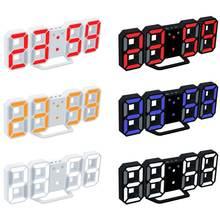 3d светодиодный настенный светильник настольные часы с будильником