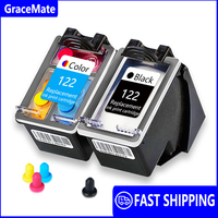 GraceMate Cartucho de Tinta Compatível para HP Deskjet 122 1510 2050 1000 1050 2540 3000 3050 3052A 1050A 2000 2050A 4505 impressora|Cartuchos de tinta|Computador e Escritório -