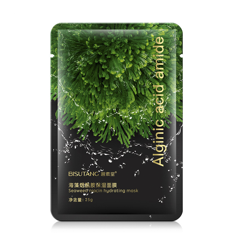 Seaweed Nicotinamide Mask Moisturizing Shrinking Pores Skin Care Pore Strip Whiten Whole Face  Wrapped Mask  Cheeks  Skincare
