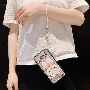 Image 3 - For Huawei Y9 2019 Case Y9Prime 2019 Y7 2019 Cover Y6Pro 2019 Y7Pro 2019 Funda Y5 2019 3D Kitty Lace Mirror Case KONSMART