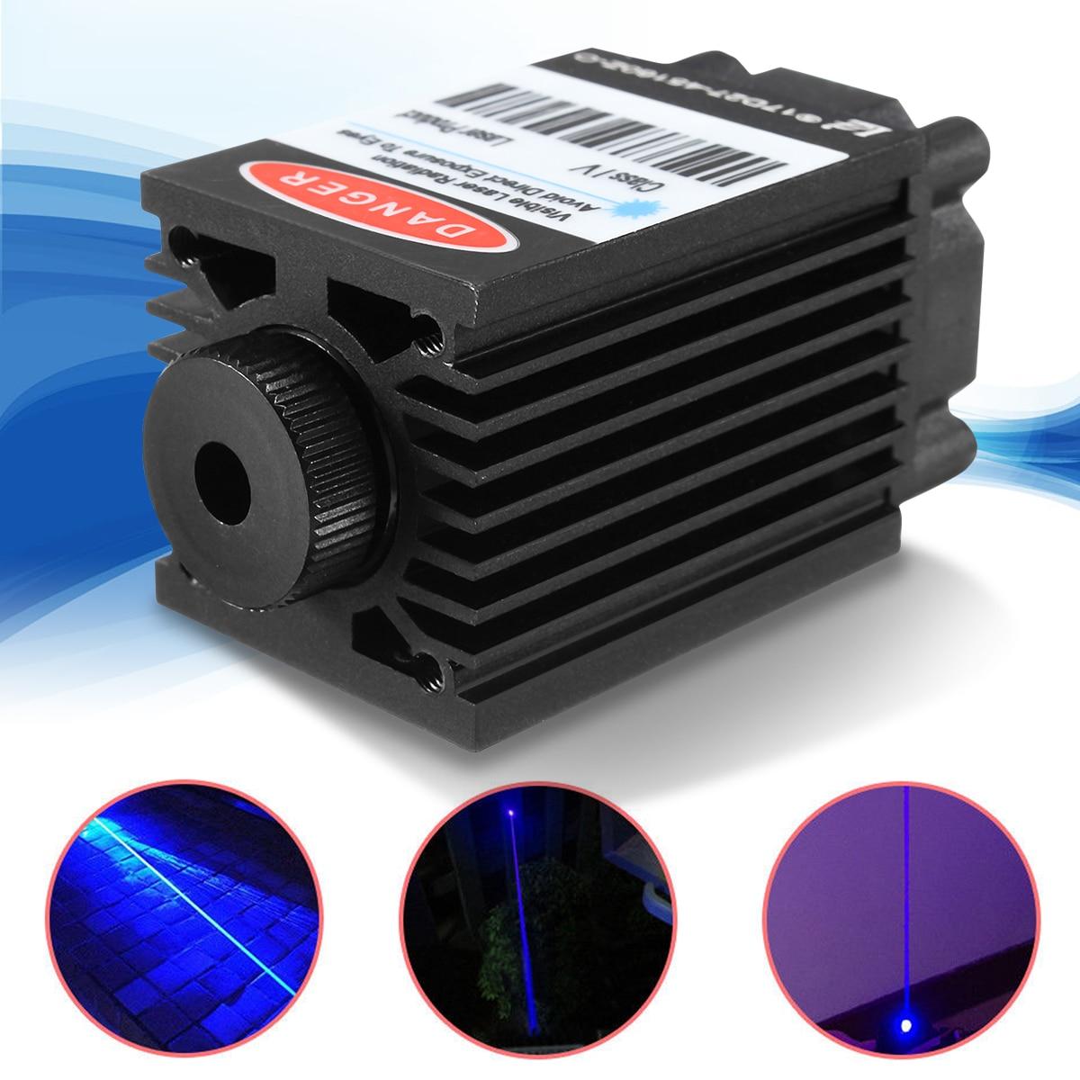 450нм 2500 мВт Высокая мощность фокусировка синий лазерный модуль TTL 12 В DIY режущий лазер cnc гравер аксессуары 2,5 Вт + очки