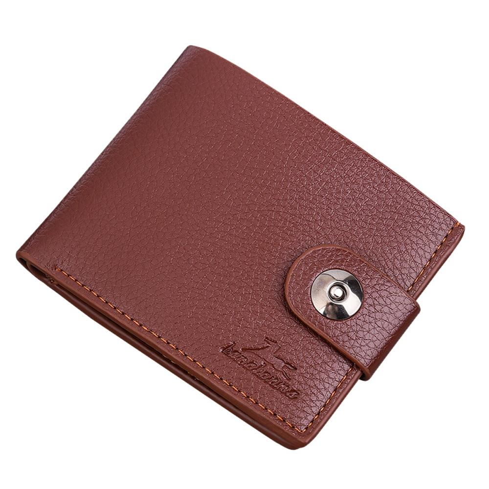 Maison Fabre Leather Wallet Men Fashion Vintage Solid Card Wallet  Boys Short Standard Wallets Outdoor Comfortable Soft Wallet