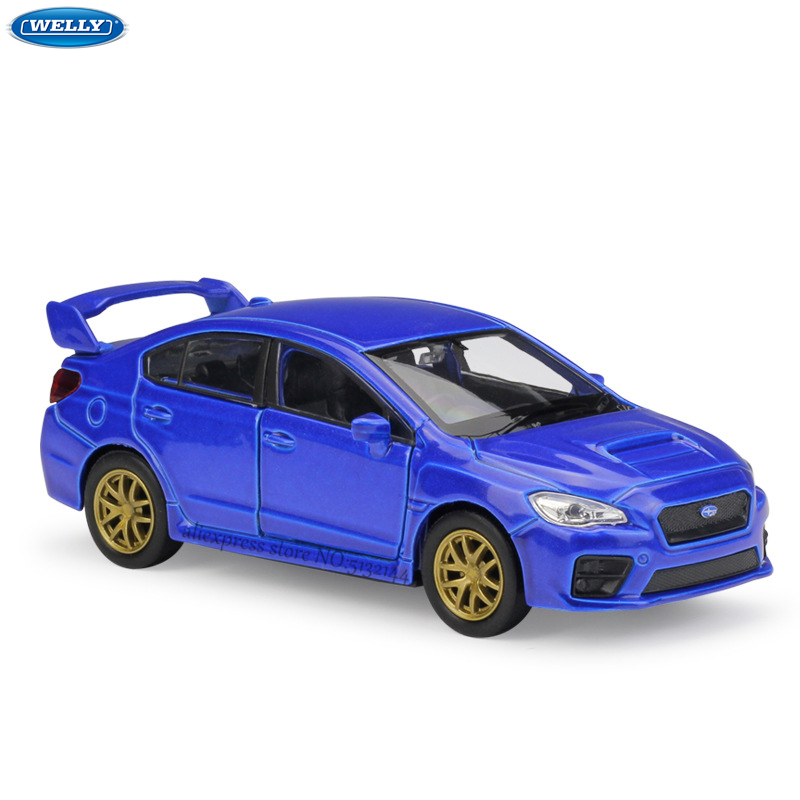 WELLY 1:36 Subaru Impreza WRX STI Alloy Car Model Machine Simulation Collection Toy Pull-back Vehicle Gift Collection