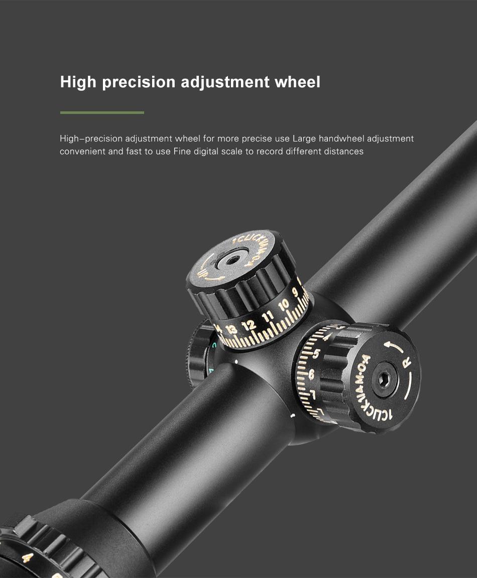 1-6.5x24 caça riflescope compacto tático mira óptica