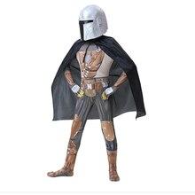 Estrela de filme cosplay guerras criança mandalorian cosplay traje traje manto para crianças halloween carnaval traje