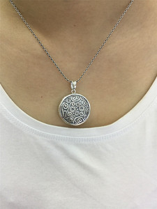 Image 5 - V.YA 925 sterling silver necklace photo locket pendant necklace chain for gifts gift silver placed photo argent creative jewelry