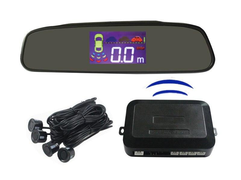 Rear View Mirror LCD Liquid Crystal Wireless Reversing Radar