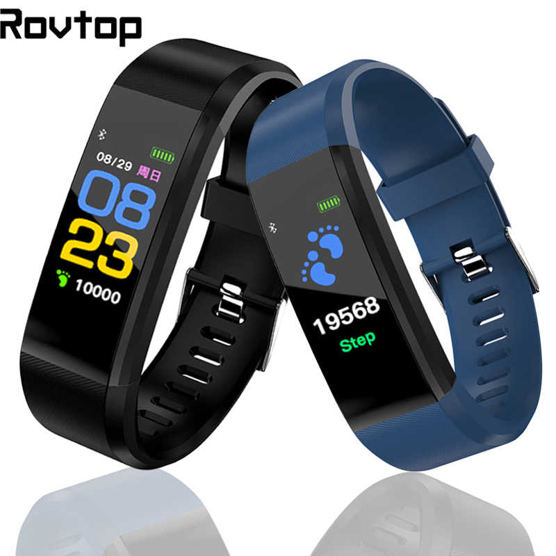 Rovtop 115 Plus Smart Uhr Armband Blutdruck Fitness Tracker Heart Rate Monitor Band Smart Aktivität Tracker Armband