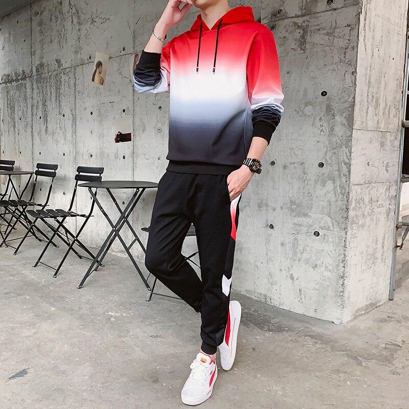 Fashion Winter Tracksuit Jacket Mens Set Tracksuit Sweat Suits Men Outfit Joggers Suit Sets New Sportwear Hommes Coat JJ60NT