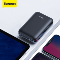 Baseus mini 10000 mah power bank dupla usb bateria externa powerbank compacto portátil carregador de telefone povebank Baterias Externas     -