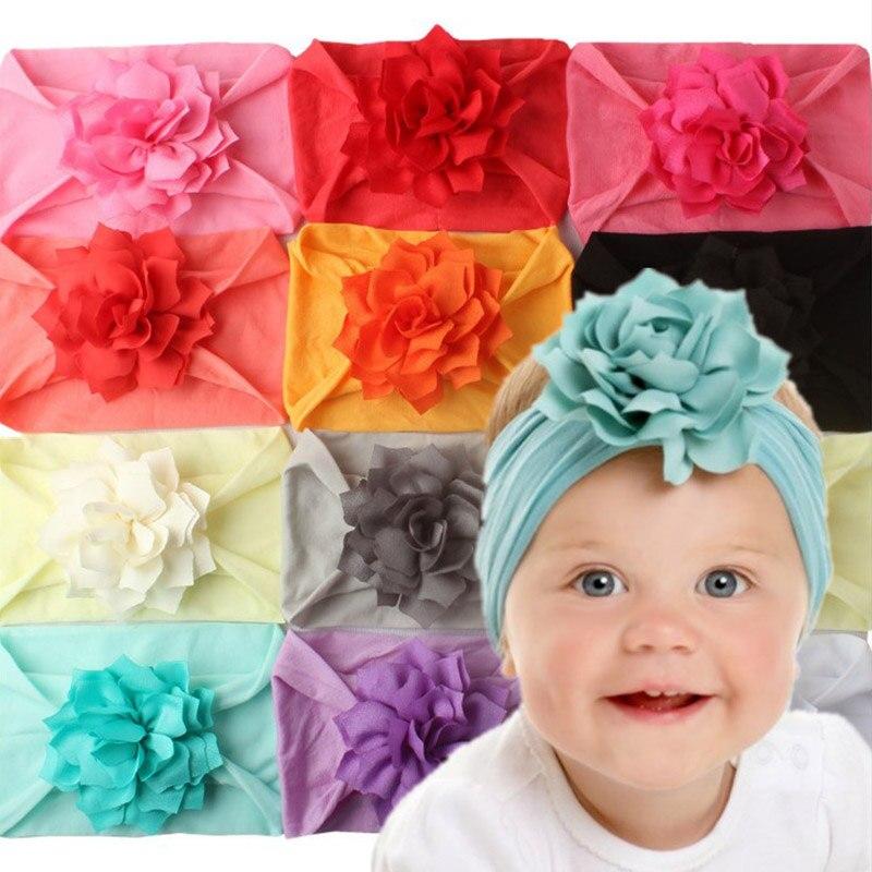Soft Cotton Knit Baby Heaband Cute Flower Elastic Haarband Baby Girl Headbands Baby Hair Accessories Newborn Hair Band
