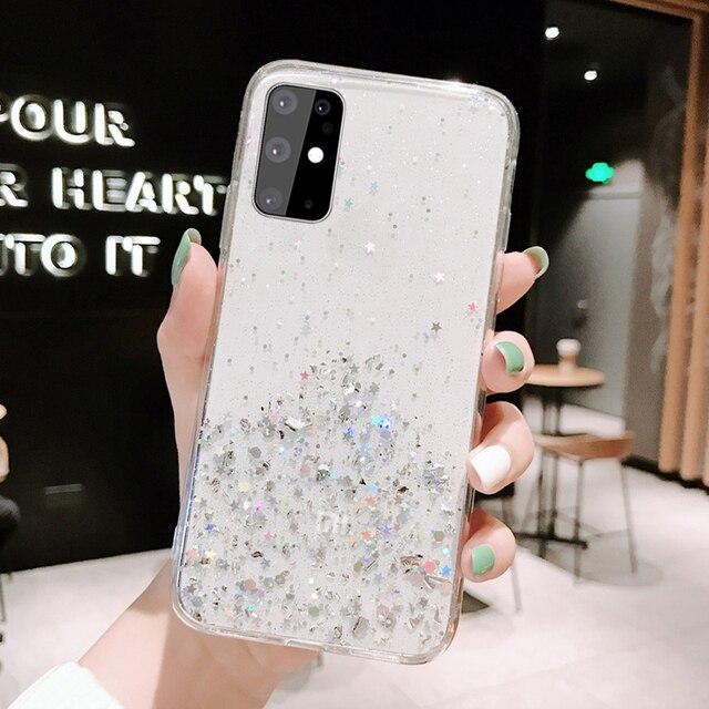 Luxury Bling Glitter TPU Case For Samsung Case S20 A51 A71 A81 A91 A50 A10 S10 S10e S9 S8 Plus A20 A30 A20E A70 Note8 9 10 Case