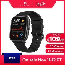 In magazzino Globale Versione Amazfit GTS Astuto Della Vigilanza 5ATM Nuoto Impermeabile Smartwatch 14 Giorni Batteria di Musica di Controllo per Android