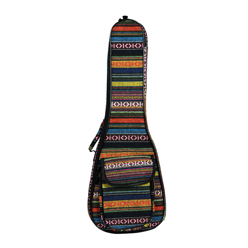 NEW-23 Inch Portable Cotton Nylon Padded Bass Guitar Gig Bag Ukulele Case Box Guitarra Cover Backpack With Double Strap