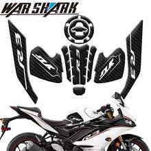 قبضة دراجة نارية غير قابلة للانزلاق ، واقي مقبض من ألياف الكربون ، للدراجات النارية Yamaha YZF R3 YZFR3 2019 2020