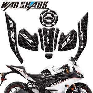 Image 1 - قبضة دراجة نارية غير قابلة للانزلاق ، واقي مقبض من ألياف الكربون ، للدراجات النارية Yamaha YZF R3 YZFR3 2019 2020