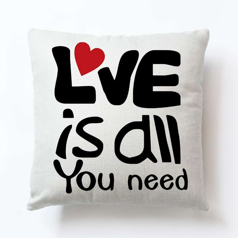Love Couple Novel Lovely PillowCases Sofa Living Room Decoration 1Pcs 45x45cm Nap Pillowsham Cushion Cover For Children Gift