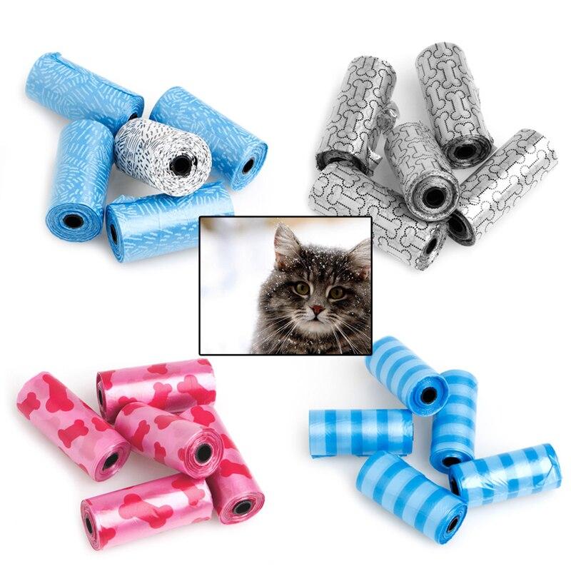 5 рулонов для домашних собак, мешки для уборки, мешки для уборки, принадлежности для домашних животных