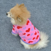 2019Spring Summer Pets Dogs Puppy Cats Pullover T-Shirt Cute Heart Stars Point XS/S/M/L Costume(China)