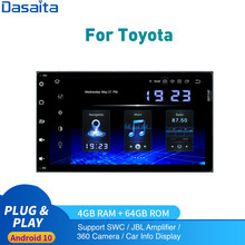 Android 10.0 Auto Radio 2 Din per Toyota Corolla Auris Fortuner innova Stereo 2016 - 2019 2din DSP HD IPS carplay 4Gb + 64Gb Mappa(China)
