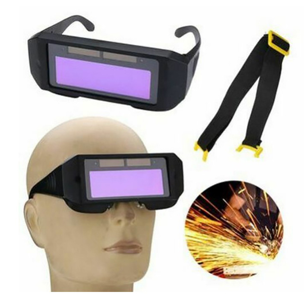 LCD Solar Auto Darkening Welding Glasses Anti- Eye Protection Tools